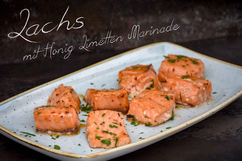 Gegrillter Lachs mit Honig-Limetten-Marinade