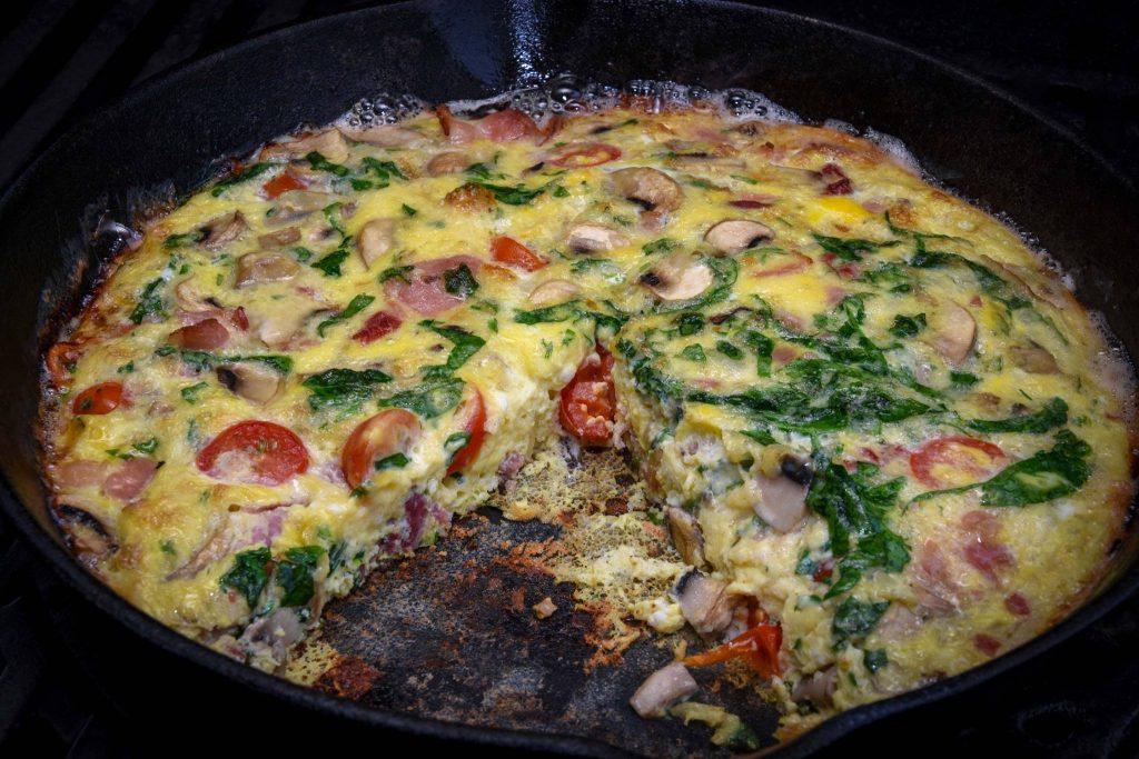 Omelett vom Grill
