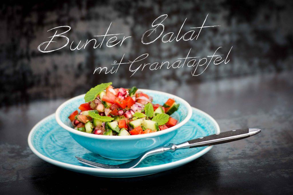 Bunter Salat mit Granatapfel