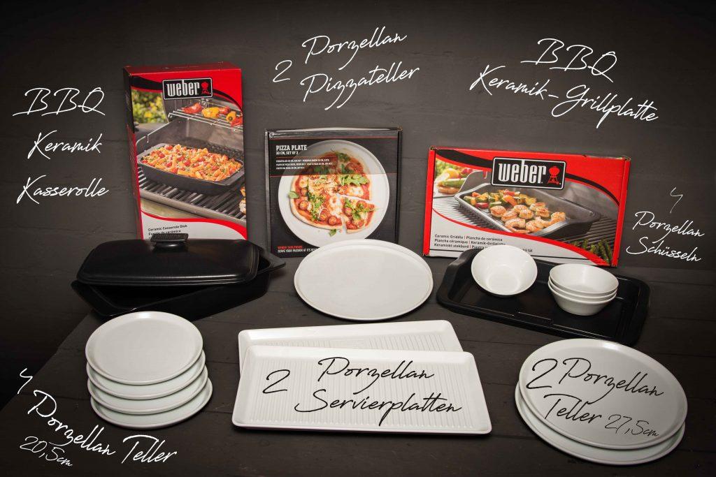 BEENDET Gewinnspiel- Weber Porzellan + BBQ Keramik-Kasserolle + Keramik-Grillplatte