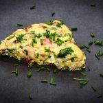 Low Carb Omelett zubereitet auf dem Grill