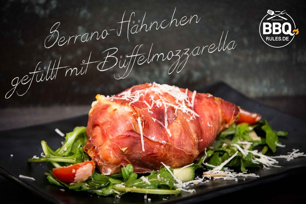 Serrano-Hähnchen gefüllt mit Büffelmozzarella