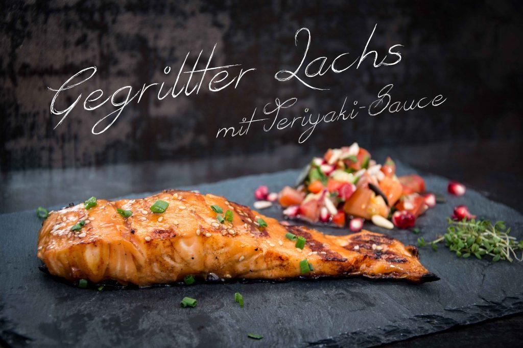 Gegrillter Lachs mit Teriyaki – Sauce